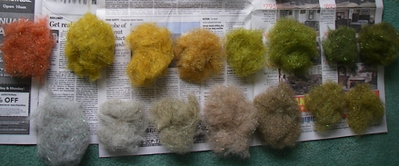Completed color range with natural fiber added