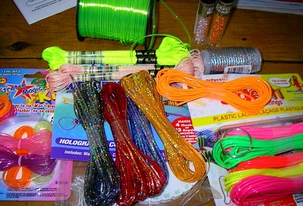 Michael's has assorted craftlace available in the target colors