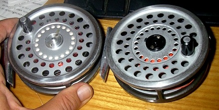 The two styles of Hardy's (SA) system reel